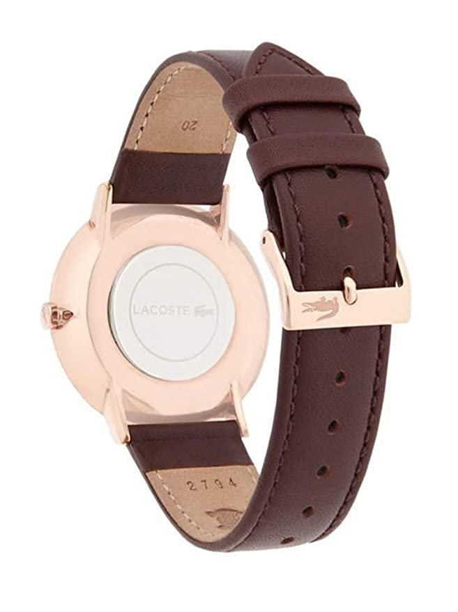 Amazon.com: Lacoste Mens Quartz Gold and Leather Watch, Color:Brown (Model: 2010871): Watches