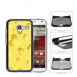 Yellow Cheese Heart Shapes Hard Plastic Snap On Cell Phone Case Motorola Moto X