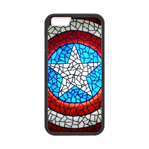 Fayruz- Personalized Protective Hard Textured Rubber Coated Cell Phone Case Cover Compatible with iPhone 6 & iPhone 6S - Captain America F-i5G676
