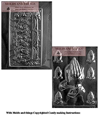 LAST SUPPER Chocolate Candy Mold And Assorted Praying Hands Chocolate Candy Mold With Copywrited molding -