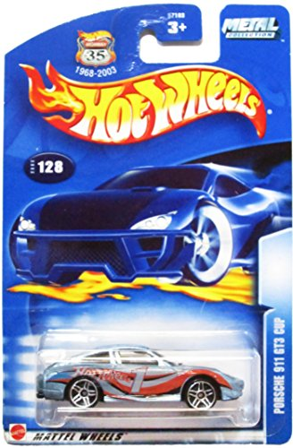 Hot Wheels 2003 Porsche 911 GT3 Cup BLUE #128 1:64 Scale (Gt3 Cup Porsche)