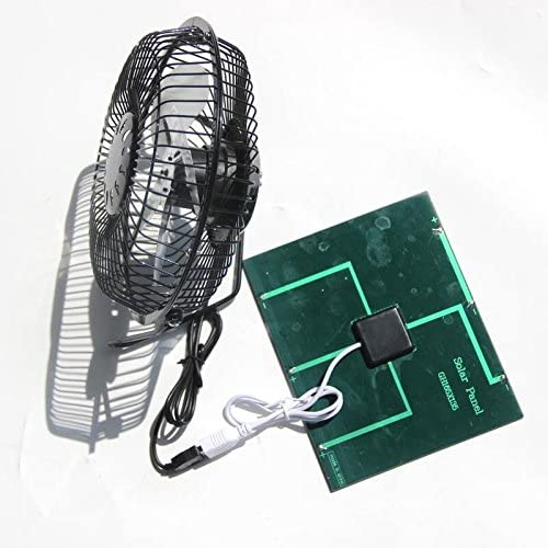 Renepv 3.5W USB Solar Panel Powered Mini Portable Fan for Cooling Ventilation Outdoor Home Travelling Chicken House Car Ventilation System 6 Inch