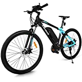ANCHEER 2018 Newest Electric Mountain Bike 27.5'' Electric Bicycle, 350W Ebike with Removable 36V 10.4Ah LG Lithium-Ion Battery for Adults, Shimano 24 Speed and LCD Display