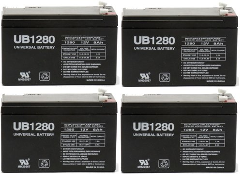 Universal Battery UB1280F2 Battery - 4 Pack by Universal Power Group