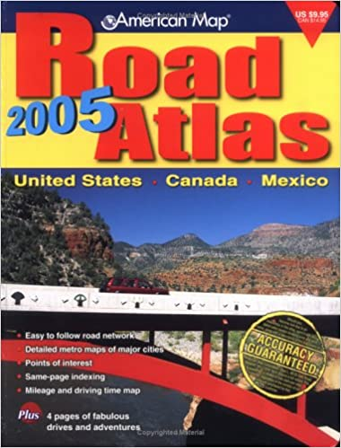 AMC Road Atlas (Road Atlas: United States, Canada, Mexico): American Map Corporation: 9780841625297: Amazon.com: Books