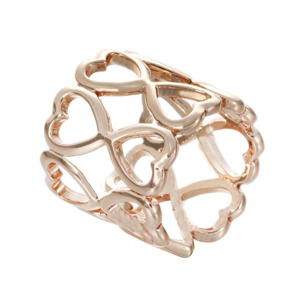 Yonger Scarf Jewelry Women Scarf Pin Rose Gold Love Scarf Scarf Brooch Buckle Ring