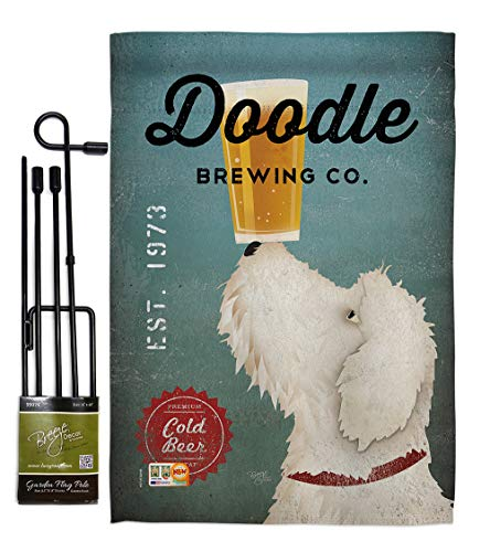 Doodle Garden - Breeze Decor GS110112-BO Doodle Brewing Nature Pets Impressions Decorative Vertical 13