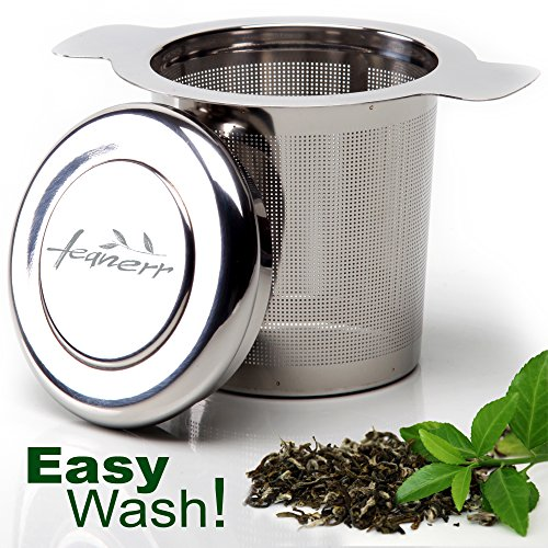 Best Deals! TeaNerr-Premium Quality Tea Infuser For Loose Tea - Stainless Steel with a Lid - BONUS -...