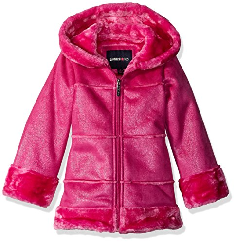 Limited Too Little Girls' Faux Shearling Coat, Pink, 4
