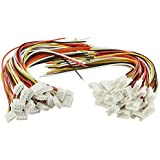XLX 40PCS(20Pairs) 2.0mm 4PIN Female Male Connection Plug with 15cm Terminal Connector Wire Cable for LED Light Strip 5…