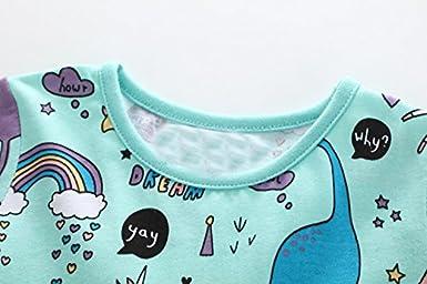 DXTON Baby M/ädchen Langarm Fr/ühling Herbst Freizeit Baumwolle Playwear Kleid