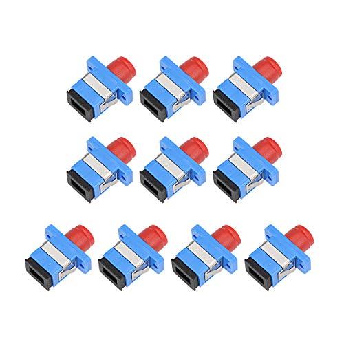 Coupler Simplex Optic Fiber - uxcell SC to FC Fiber Coupler Flange Type Fiber Optical Adapter Connector Singlemode/Multimode Simplex 10Pcs MFH
