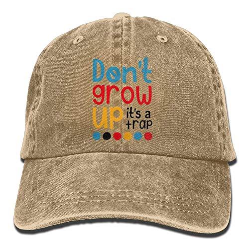 NFHRREE Hat Dont Grow up Its A Trap Denim Skull Cap Cowboy Cowgirl Sport Hats for Men Women: Amazon.es: Ropa y accesorios