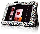 "Fintie Kindle Fire HD 7"" (2012 Old Model) Slim Fit Leather Case with Auto Sleep/Wake Feature (will only fit Amazon Kindle Fire HD 7, Previous Generation - 2nd), Leopard Rainbow"