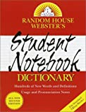 Random House Webster's Student Notebook Dictionary, RH Disney Staff, 0375719490