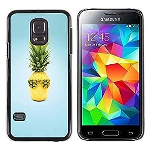 iKiki Tech / Estuche rígido - Fruit Design Cool Pineapple - Samsung Galaxy S5 Mini, SM-G800, NOT S5 REGULAR!