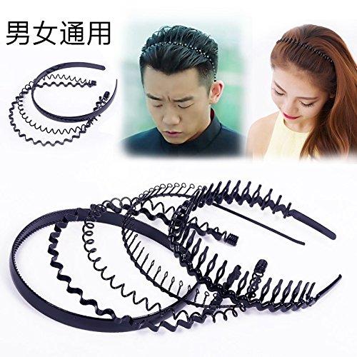 - usongs Unisex hair wash hoop headband headbands metal issuing elderly - from black tide serrated