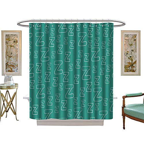 luvoluxhome Shower Curtains Waterproof with Cartoon zzz can be Used for Wallpaper wrapp Paper Fabric for Pajamas Custom Made Shower Curtain W54 x L78