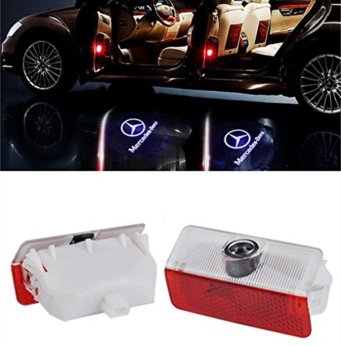 AutoPart for Mercedes-Benz GLK300 GLK350 GL350 B A Car Door lighting Logo Projector Welcome Courtesy Shadow -2Pcs