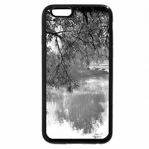 iPhone 6S Plus Case, iPhone 6 Plus Case (Black & White) - Autumn on Lake