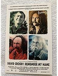 "DAVID CROSBY: REMEMBER MY NAME - Original Movie Postcard 4""x6"" 2019 Documentary"