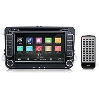 Universal Volkswagen VW Stereo Receiver System for Passat, Jetta, Tiguan, CC, Golf (GPS Navigation, Bluetooth Wireless, CD/DVD Player, 7'' HD Touchscreen, AM/FM Radio, Double DIN) PVWMULTI07