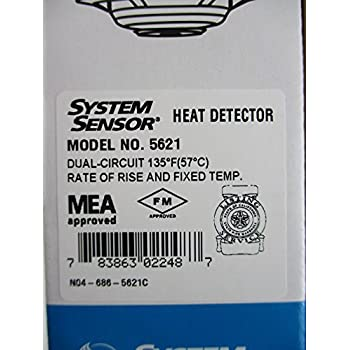 System Sensor 5621 - Fixed Temperature Rate of Rise Heat Detector