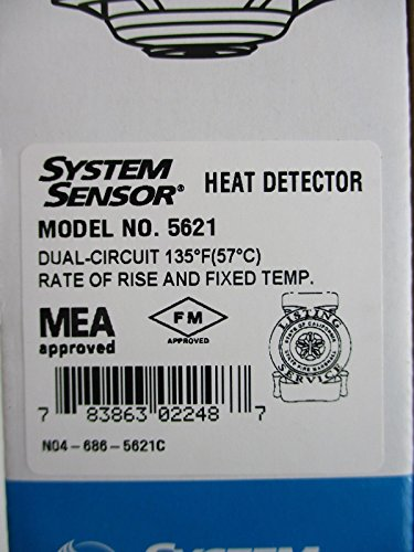 (System Sensor 5621 - Fixed Temperature Rate of Rise Heat Detector)