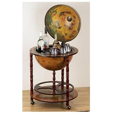 Kassel HHGLB32 Kassel 13quot; Diameter Old World Map Globe Wine Bar
