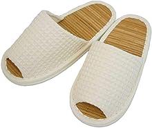 スリッパ 竹 太ワッフル外縫い中竹 Mサイズ 約25cmまで 日本製 夏 ゆったり ベージュ