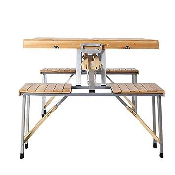 ZHAS Mesa Plegable/Mesas y sillas Plegables siamesas/Mesa de ...