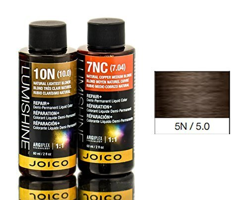 - Joico Lumishine Demi Permanent Liquid Color Natural Light Brown 5n/5.0, 2 Ounce