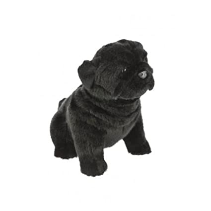 Amazoncom Bocchetta Plush Toys Pug Dog Sitting Soft Plush Toy