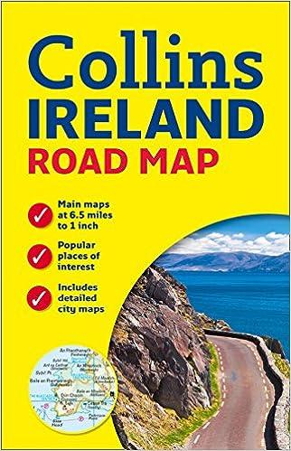 Map Of Ireland Headlands.Ireland Road Map New Edition Collins 9780007543984 Books Amazon Ca