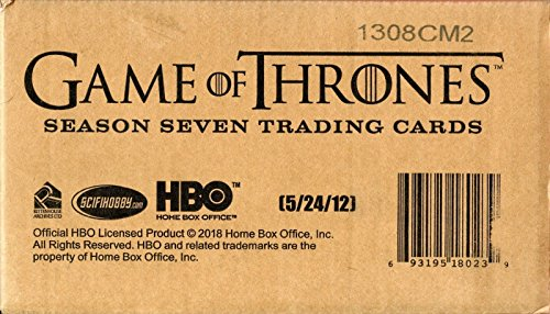 Game of Thrones Season 7 Trading Cards – Factory Sealed Boxes – Case of 12