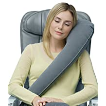 Travelrest - Ultimate Travel Pillow  - Lean Into It To Sleep - Fall Asleep Faster, Stay Asleep Longer (Rolls Up Small)