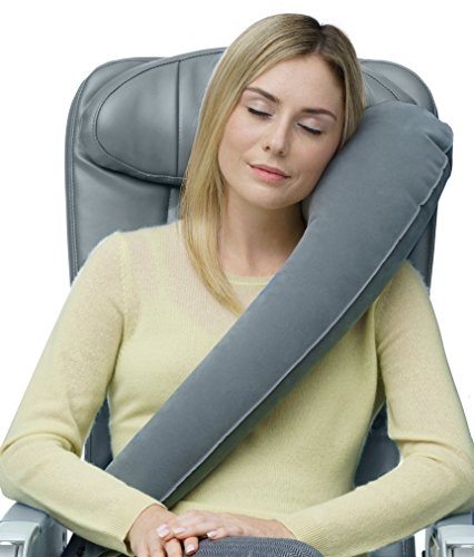 Travelrest Inflatable Travel Pillow Airplane Neck Pillow Deal (Large Image)