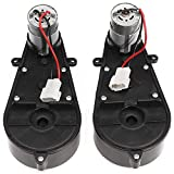 TOOGOO 2 Pcs 550 Universal Children Electric Car Gearbox with Motor, 12Vdc Motor with Gear Box, Kids Ride On Car Baby Car Parts