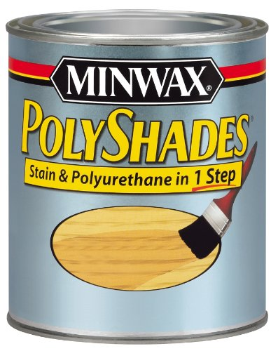 Maple Stain Colonial (Minwax 61430444 PolyShades - Stain & Polyurethane in 1 Step, quart, Old Maple, Gloss)