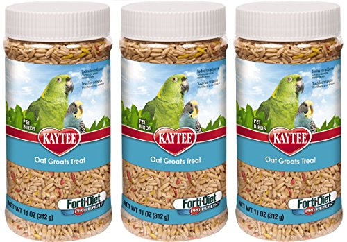 Kaytee Forti Diet Pro Health Oat Groats Treat for Pet Birds, 11-Ounces Per Pack (3 Pack)
