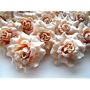 "(100) Silk Pearl Cream Roses Flower Head - 1.75"" - Artificial Flowers Heads Fabric Floral Supplies Wholesale Lot for Wedding Flowers Accessories Make Bridal Hair Clips Headbands Dress 2"