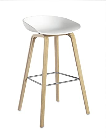 HAY - About A Stool AAS 32 - weiß - Eiche geseift - 75 cm - Hee ...