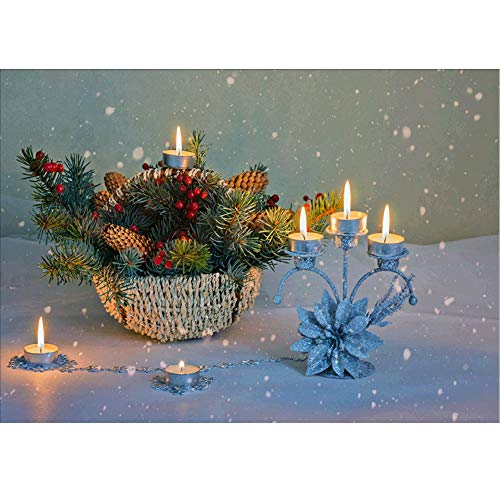 HHmei 5D Embroidery Paintings Rhinestone Pasted DIY Diamond Painting Cross Stitch Decorations Outdoor Tree Table Lights Blue Home Set Silver Wall Ornaments Party Confetti A