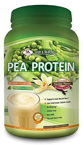 Olympian Labs Pea Protein,Vanilla Flavor 25.9 Ounces (Packaging May Vary) (Pack of 3) by Olympian Labs