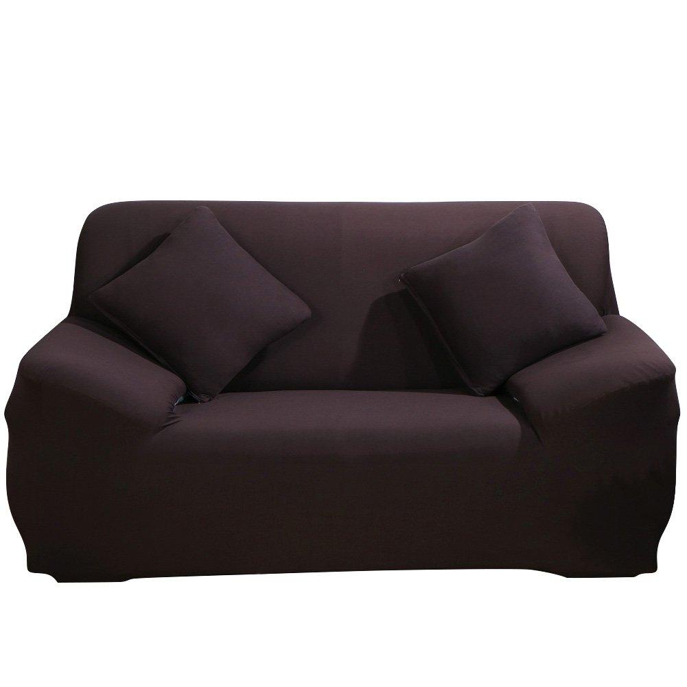 HTDirect Housse de protection pour canap/é en polyester stretch facile /à installer avec /élastiques 1 seater beige