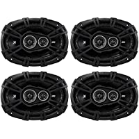 (2) Pairs of Kicker 43DSC69304 6x9 3-Way Speakers Totaling 1440 Watt With 4-Ohm Impedance