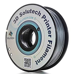 3D Solutech Silver Metal 3D Printer PLA Filament 1.75MM Filament, Dimensional Accuracy +/- 0.03 mm, 2.2 LBS (1.0KG) - 100% USA from 3D Solutech