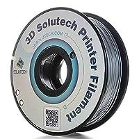 Filamento PLA 1.75MM de la impresora 3D de metal plateado 3D Solutech, precisión dimensional +/- 0.03 mm, 2.2 LBS (1.0 KG) - PLA175TCMS