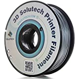 3D Solutech Silver Metal 1.75mm 3D Printer PLA Filament 2.2 LBS (1.0KG) - 100% USA