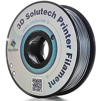 3D Solutech Silver Metal 3D Printer PLA Filament 1.75MM Filament, Dimensional Accuracy +/- 0.03 mm, 2.2 LBS (1.0KG) - 100% USA